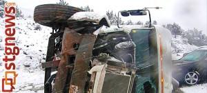 I-15 accident near mile post 35, Washington County, Utah, Jan. 31, 2014 | Photo courtesy of Utah Highway Patrol