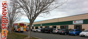 Emergency crews responded to a possible structure fire at the business warehouse of Tie One On - the building pictured with no logo above its door, St. George, Utah, Jan. 7, 2014 | Photo by Drew Allred, St. George News