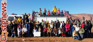 Groundbreaking ceremony for the Winchester Hills Fire Department's new station, St. George, Utah, Jan. 4, 2013 | Photo courtesy of Suzanne Hacker