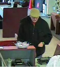 Photograph of Wells Fargo bank robbery suspect, Cedar City, Utah, Jan. 4, 2014 | Photograph courtesy of Cedar City Police Department