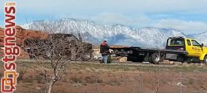 Traffic stop on SB I-15 near mile post 10 gives rise to a manhunt after passenger flees, Washington-St. George area, Utah, Feb. 2, 2014   Photo courtesy of Utah Highway Patrol, St. George News