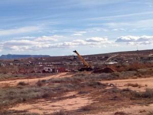 Mall Drive Bridge construction project begins, St. George, Utah, Feb. 4, 2014   Photo by Kimberly Scott, St. George News