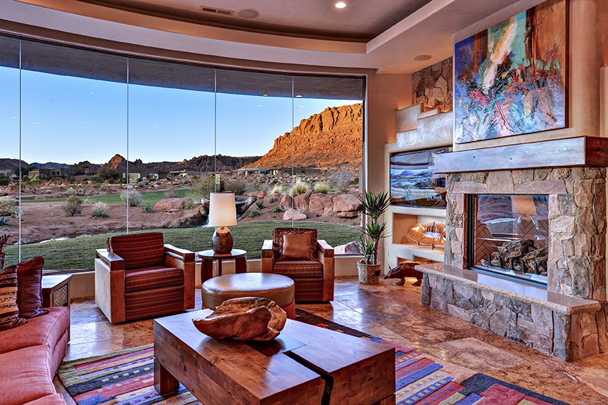A scene from a home previously featured in the Parade of Homes, Washington County, Utah | Photo courtesy of SUHBA