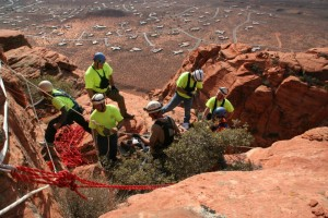 A remote rescue performed by WCSAR who were assisting an injured hiker, Ivins, Utah, Mar. 11, 2012 | Photo courtesy of Washington County Sheriff Search and Rescue