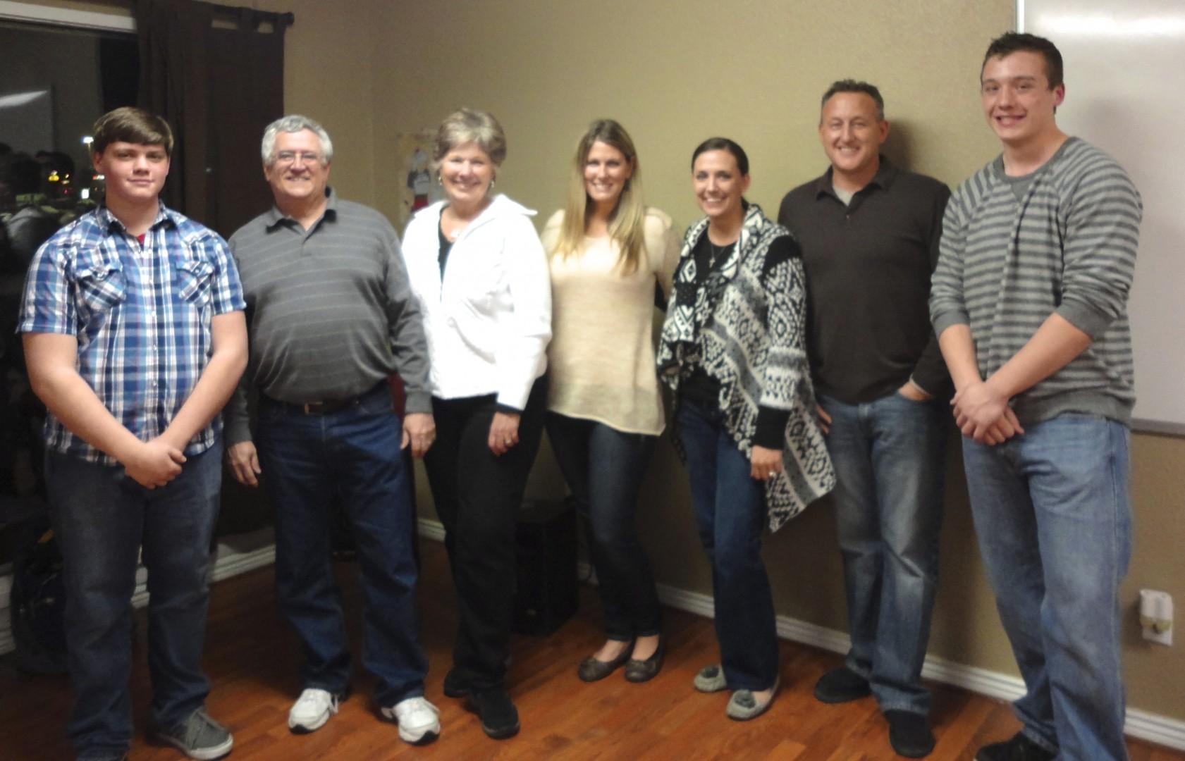 Cedar Bible Institute Organizers Hanan Pruitt, Tom & Janet Jackson, Natasha Tebbs, Melissa & Rob Bantum and Kole Dotson, Cedar City, Utah, Jan. 13, 2014 | Photo by Rhonda Tommer, St. George News
