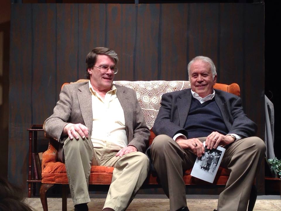 "President of Zion Theatricals Michael Perry and ""Huebener"" playwright Thomas Rogers sit for a Q & A at Pine View High School, St. George, Utah, Feb. 19, 2014 