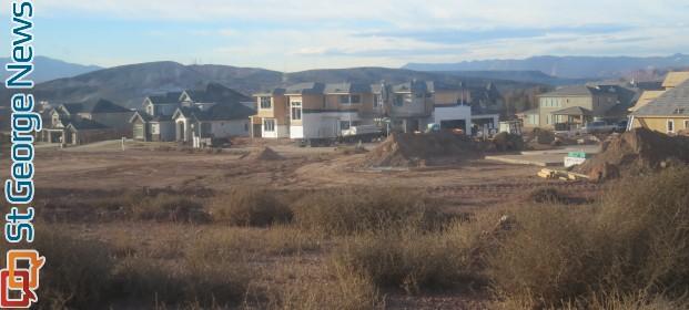 Homes being built in Little Valley, St. George's fasting growing area, St. George, Utah, Feb. 13, 2014 | Photo by Mori Kessler, St. George News