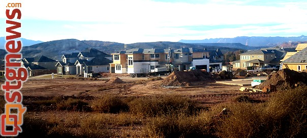 Homes going up in Little Valley, St. George, Utah, Feb. 13, 2014 | Photo by Mori Kessler, St. George News
