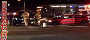 Car accident at Green Springs and Red Cliffs Drive, Washington City, Utah, Feb. 3, 2014 | Photo by Kimberly Scott, St. George News