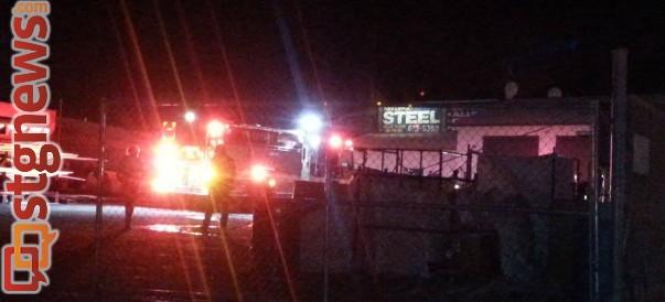 Fire at St. George Steel, St. George, Utah, Feb. 3, 2014 | Photo by Drew Allred, St. George News