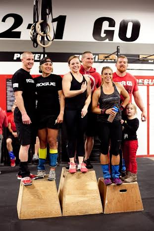 Ryan and Aimee Wright, standing on the far right, join winners of a Neighborhood Throwdown, Hurricane, Utah, Nov. 23, 2013   Photo by and courtesy of Susannah Stout, St. George News