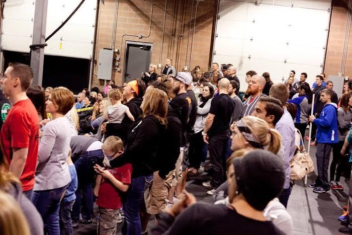 Spectators watch a CrossFit Neighborhood Throwdown, Hurricane, Utah, Nov. 23, 2013 | Photo by and courtesy of Susannah Stout, St. George News