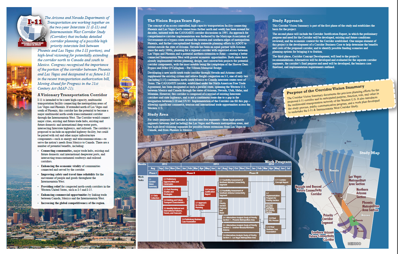 Intermountain West Corridor vision pamphlet 2014 | Image courtesy of ADOT, st. George News