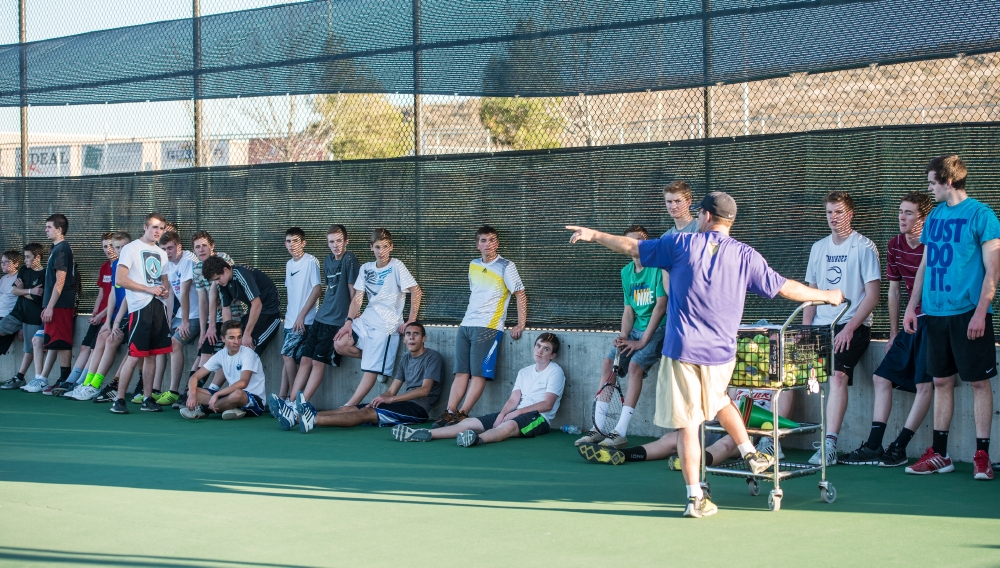 Desert Hills boys tennis practice, St. George, Utah, Feb. 25, 2014 | Photo by Dave Amodt, St. George News