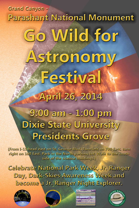 Daytime Astronomer event flyer | Image courtesy of National Park Service | Click on image to enlarge