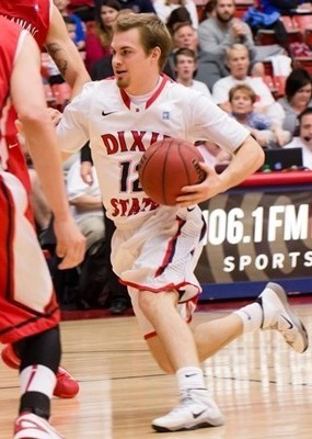 Mason Sawyer, Cal Baptist at Dixie State, St. George, Utah, March 1, 2014 | Photo courtesy DSU Athletics