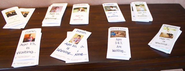 Brochures are provided on each child displayed in the gallery, St. George, Utah, March 21, 2014 | Photo by Rhonda Tommer, St. George News