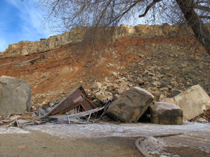 Remains of house at 368 West Main Street, Rockville, Utah | Courtesy of the Utah Geological Survey