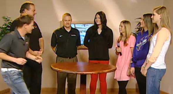 Devin goes for a steal during Tuesday's taping of the Region 9 Round Table.