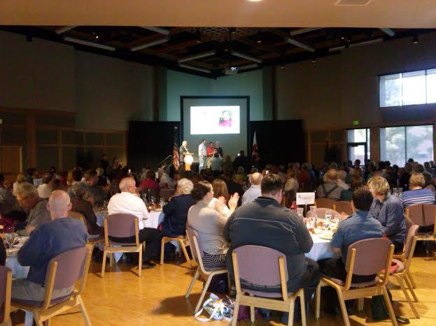 Steve Ikuta receives the Preparedness award at the Gardner Center, Dixie State University, March 27, 2014 | Photo by Aspen Stoddard, St. George News