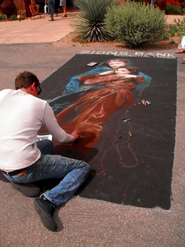 Kayenta Street Painting Festival, Ivins, Utah, April 13, 2013   Photo by Alexa Verdugo Morgan, St. George News