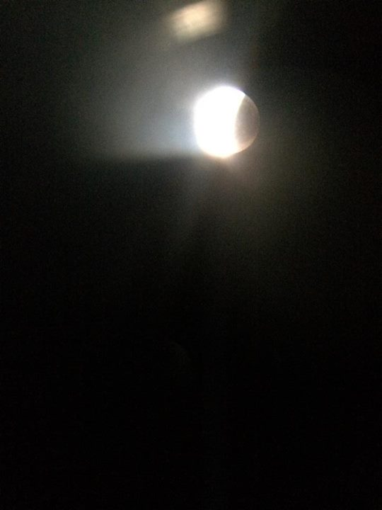 """""""Blood moon"""" at 12:28 a.m., St. George, Utah, April 15, 2014 