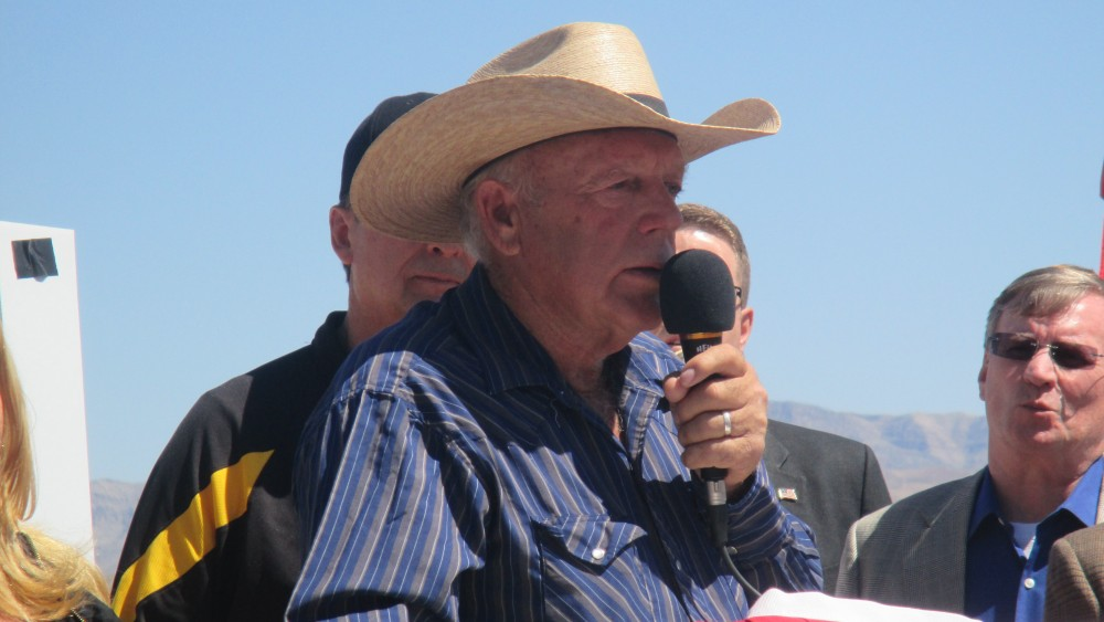 Cliven Bundy during a press conference, Bunkerville, Nev., April 14, 2014 | Photo by Mori Kessler, St. George News