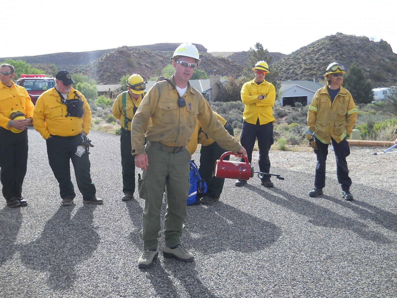 Wildfire training, 4 mock fire scenarios