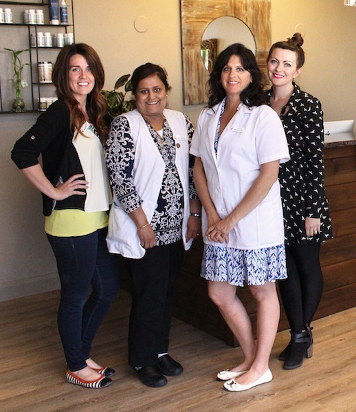 East West Health staff L-R: Sierra Archibald,  patient care coordinator, Neeta Vyas, nurse practitioner, Amy Gretsel licensed acupuncturist, Annie Asher, operations Manager, St. George, Utah, April 17, 2014 | Photo by Amber Green, St. George News