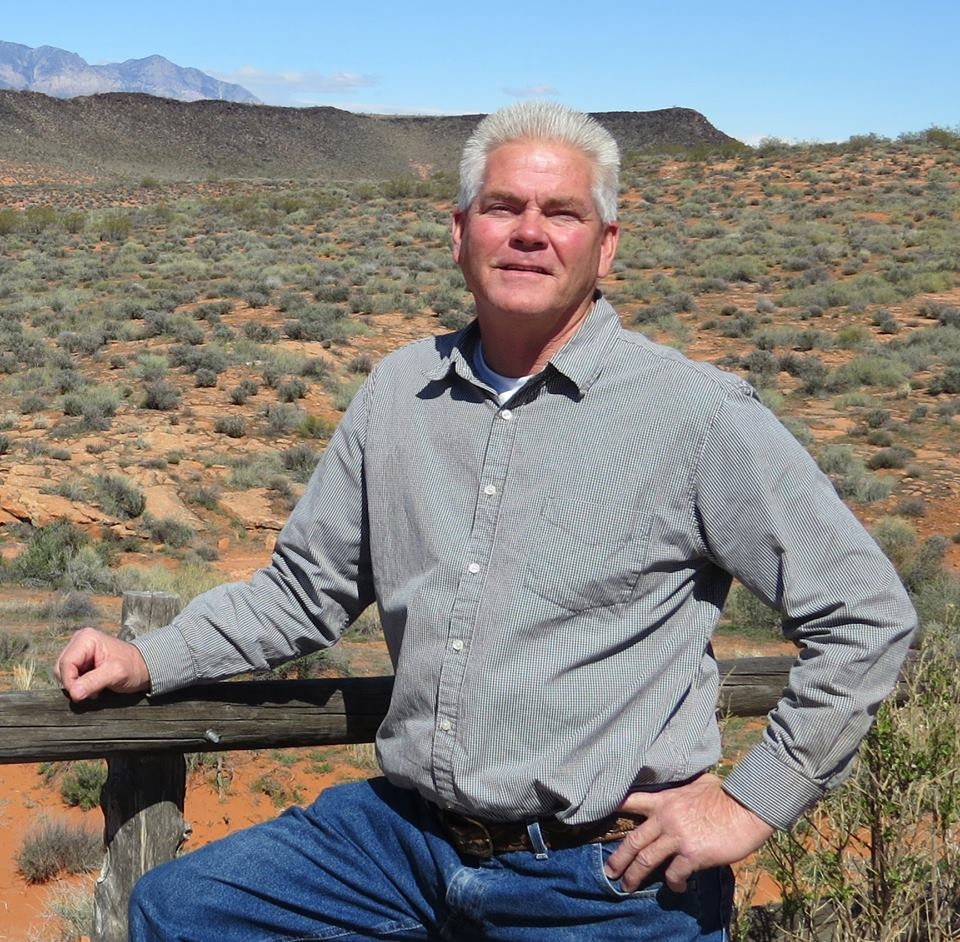 Greg Aldred, candidate for Washington County Commissioner Seat A, poses with the Southern Utah desert in the backdrop for a campaign photo, St. George, Utah, March 19, 2014 | Photo courtesy of Greg Aldred