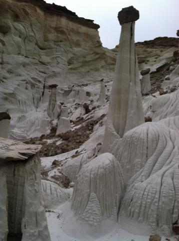A group of the Wahweap Hoodoos, Grand Staircase-Escalante National Monument, Utah, March 10, 2014   Photo by Kelsey Buchanan, St. George News