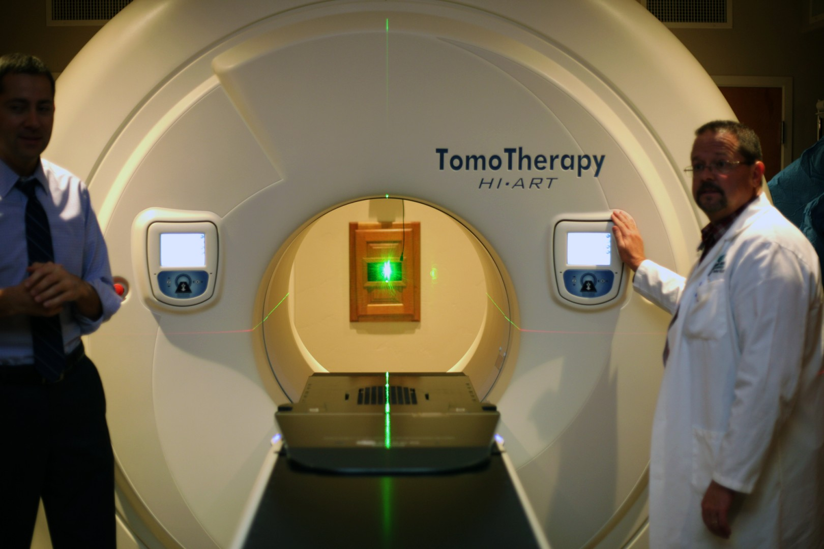 TomoTherapy machine, Gamma West Cancer Services, St. George, Utah, 2014 | Photo courtesy of Gamma West, St. George News