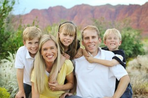 Zachary Renstrom with his wife, Alison, daughter Sierra and sons Nicholas and Austin
