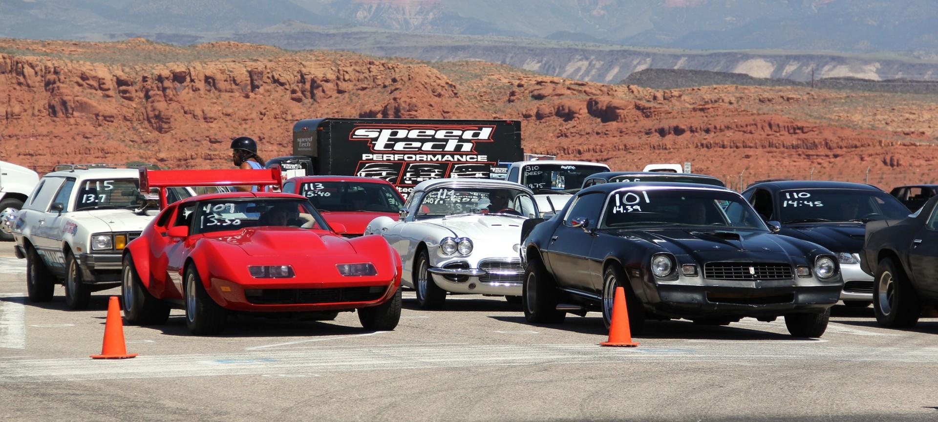 Drag racing at Ridge Top Complex,  St. George, Utah, Sept. 22, 2013 | Photo by John Teas, St. George News