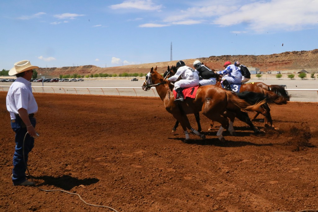 Barry Hall Has Been The Starter For Dixie Downs Horse Races Over 10 Years Washington County Fair Grounds Hurricane Utah April 19