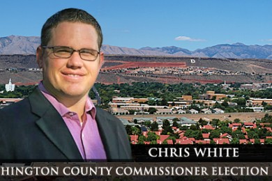Chris White is running for County Commission Seat A out of the Democratic Party.