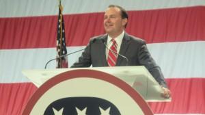 Sen, Mike Lee, Utah Republican Nomination Convention, Sandy, Utah, April 26, 2014 | Photo by Mori Kessler, St. George News