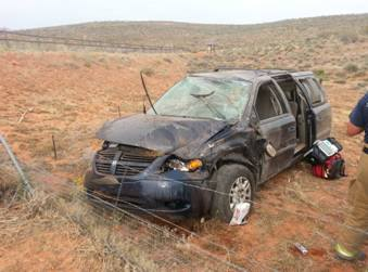 One-car rollover on Red HIlls Parkway, St. George, Utah, May, 17, 2014 | Photo by and courtesy of the St. George Police Department