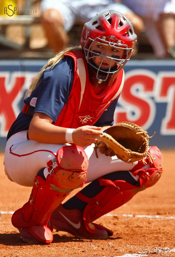 Marla Reiter, NCAA D-II West Region action, Dixie State vs. UC San Diego, St. George, Utah, May 10, 2014 | Photo by Robert Hoppie, St. George News