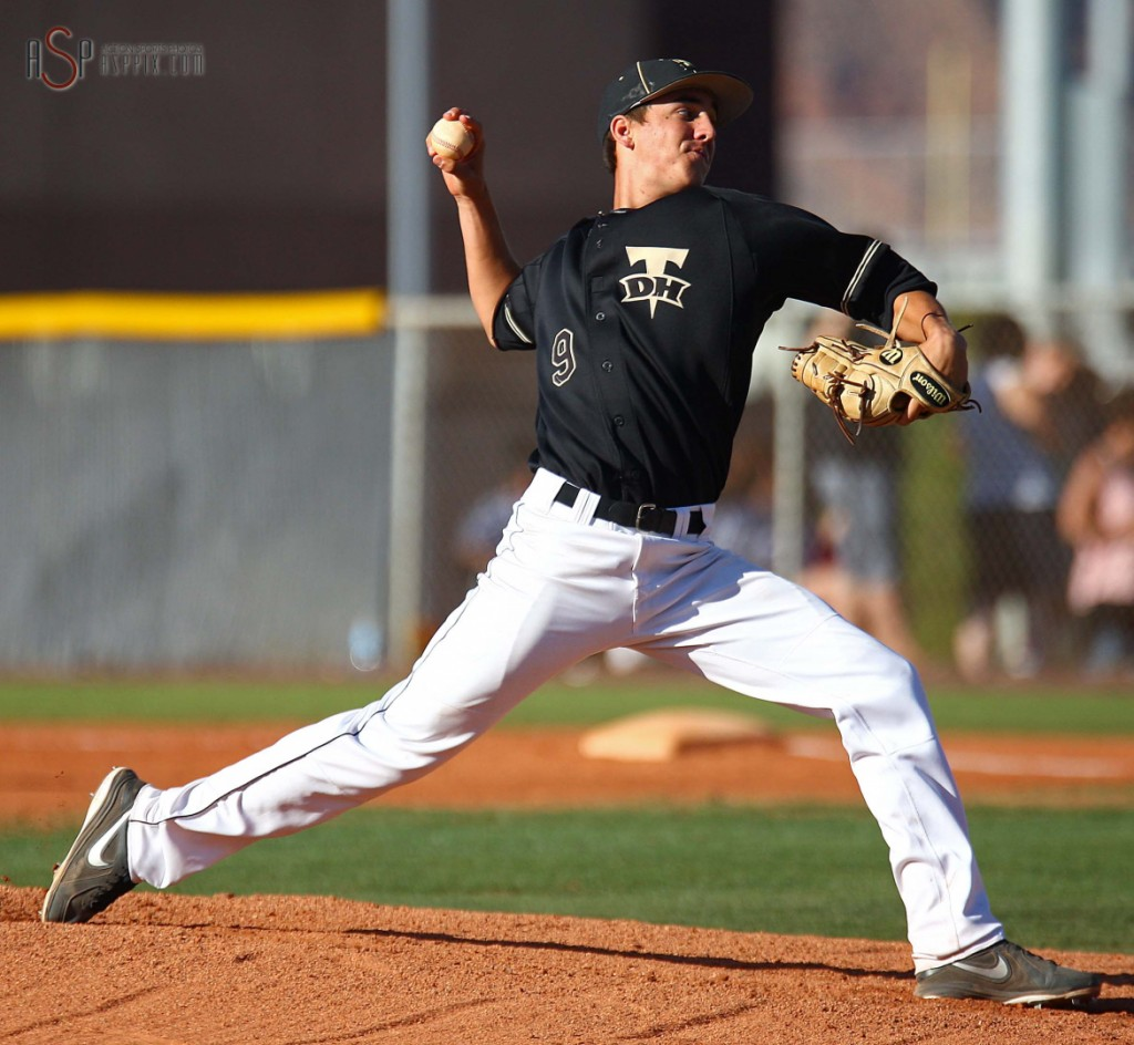 Former DH Thunder starting pitcher Dylan File hurled a gem for DSU, file photo from St. George, Utah, May 10, 2014 | Photo by Robert Hoppie, St. George News