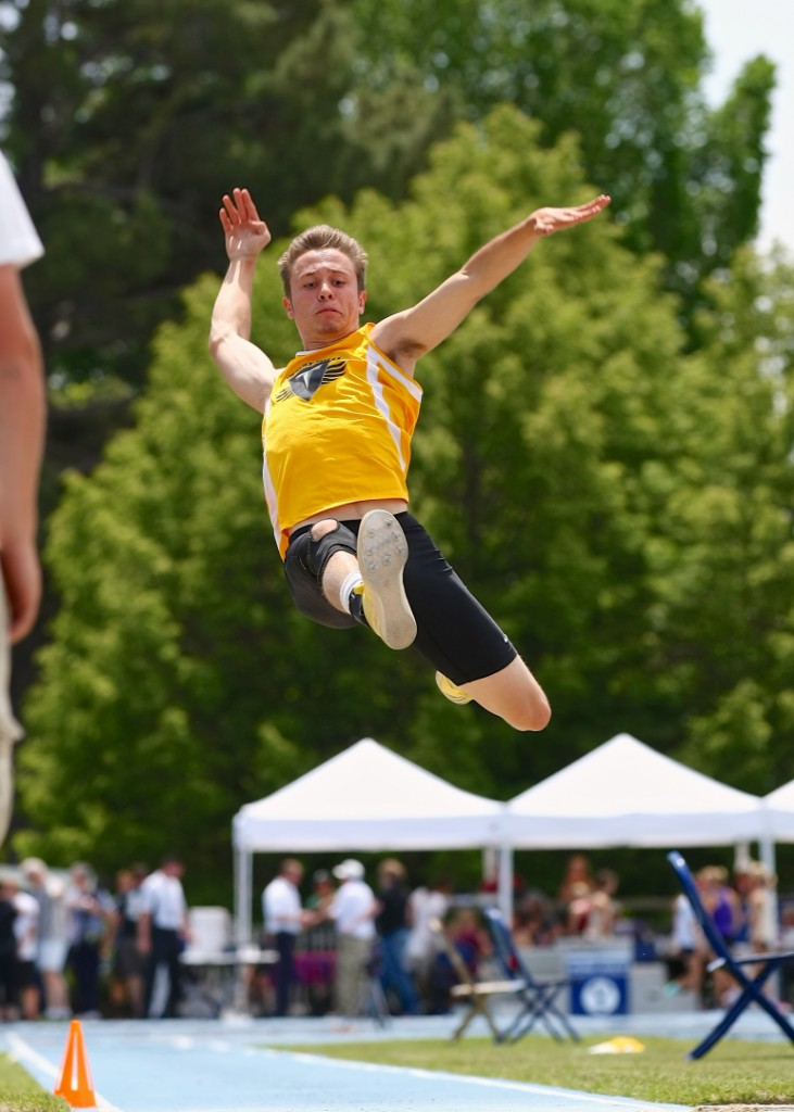Chandler Swaney, state 3A track meet, Provo Utah, May 17, 2014 | Photo by Shane Marshall, special for St. George News