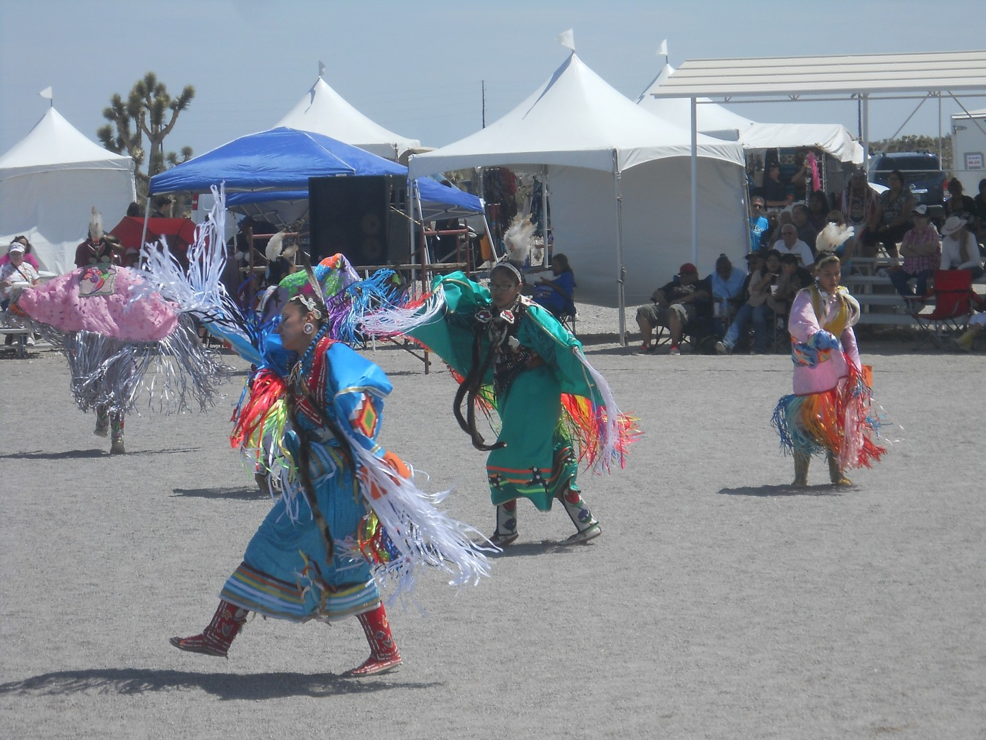 Dancers at the 25th annual Memorial Day Snow Mountain Powwow at the Las Vegas Band of Paiutes, Las Vegas, Nevada, May 24, 2014 | Photo by Aspen Stoddard, St. George News