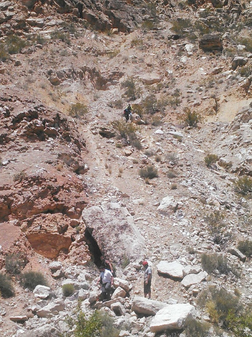 Washington County Search and Rescue at slope where woman fell, LaVerkin Canal Trail, LaVerkin, Utah, May 15, 2014 | Photo by and courtesy of SAR Commander Casey Lofthouse, St. George News