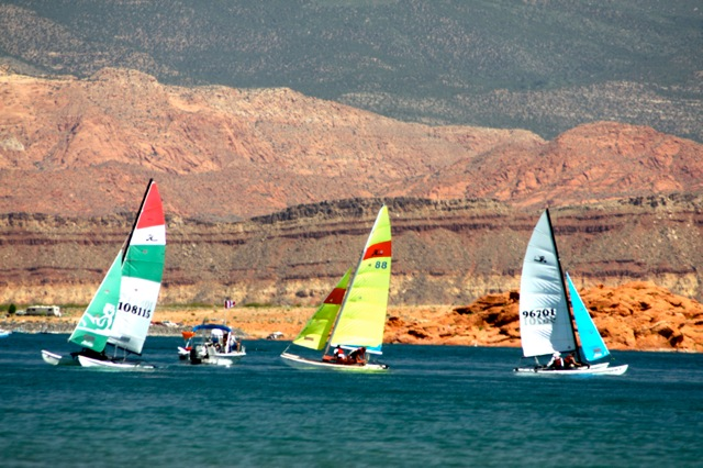 Hobie Fleet 941/Sand Hollow Yacht Club members at Sand Hollow Reservoir, Hurricane, Utah, Undated | Photo courtesy of Raul Hevia, St. George News