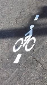 New bicycle road marking at Main Street and St. George Boulevard, St. George, Utah, May 14, 2014 |  Photo by Mori Kessler, St. George News