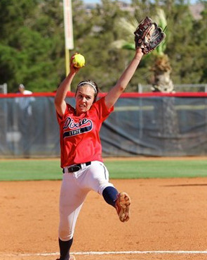 DSU's Michelle Duncan, NCAA West Regional, St. George, Utah, May 9, 2014 | Photo courtesy DSU Athletics