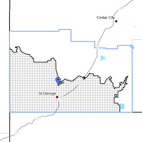 Fire Weather Zone 497, Mojave Desert, Washington County, Utah   Image courtesy of the National Weather Service, St. George News