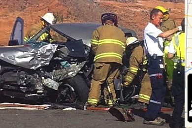 SR-18 head-on collision sends one to hospital – St George News