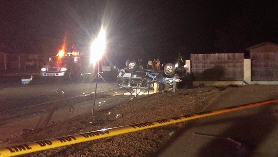 Five juveniles injured when Ford Explorer rolled on Valley View, St. George, Utah, June 23, 2014 | Photo by and courtesy of Kenzii Lynn, St. George News