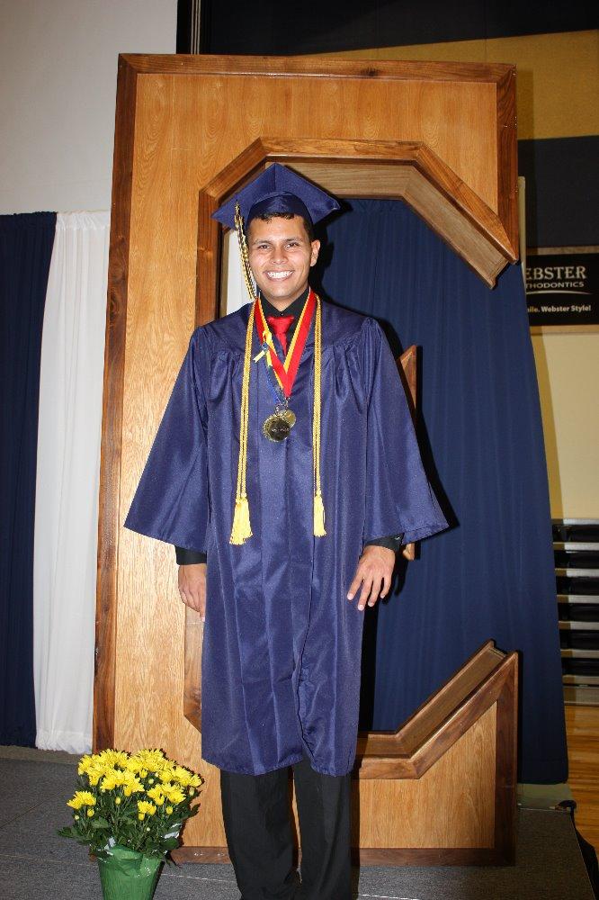 Roberto Jarond graduation photo, Enterprise High School, Enterprise, Utah, May 2014 | Photo courtesy of ShaRee Hirschi, St. George News
